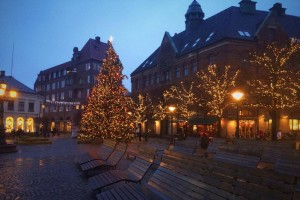 The central square in Lund over Christmas.