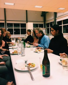 Dinner with the other MARK students and faculty staff