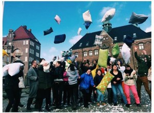 A flash-mob pillow fight I helped organize for charity