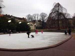 Ice-skating at Folkets Park, Malmö