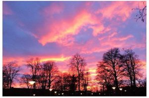 Spring Sunsets in Lund look like this!