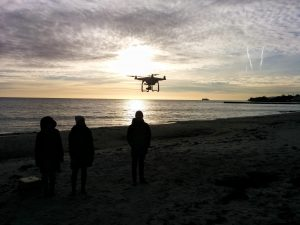 Drones have a great ability to capture overhead images of coastal erosion over time